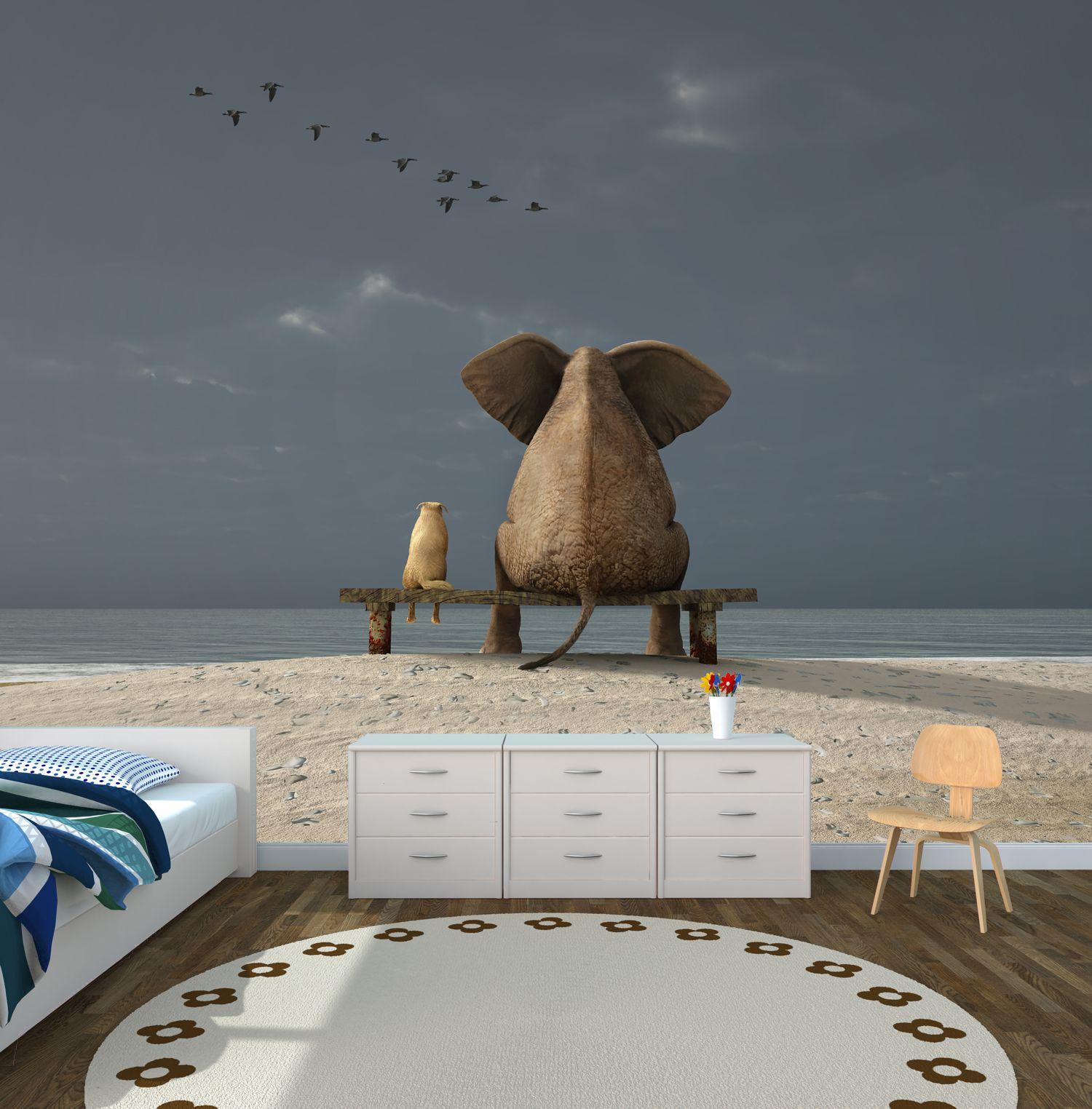 poster fototapete selbstklebend tiere elefant hund. Black Bedroom Furniture Sets. Home Design Ideas